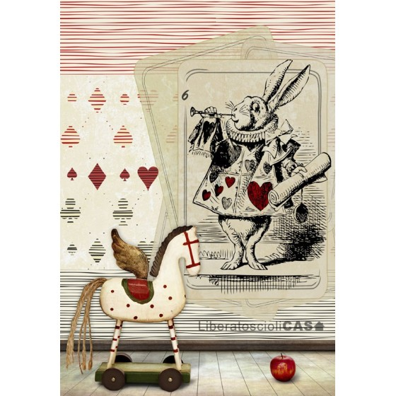 CARTA DA PARATI KIDS The white rabbit hole - WALLPEPPER