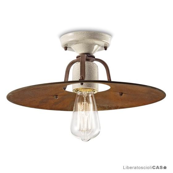 FERROLUCE - LAMPADA DA SOFFITTO  GRUNGE DIAM 40 CM