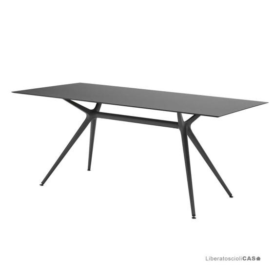 SCAB DESIGN - METROPOLIS L TAVOLO CON BASE 60CM E PIANO 160X90CM