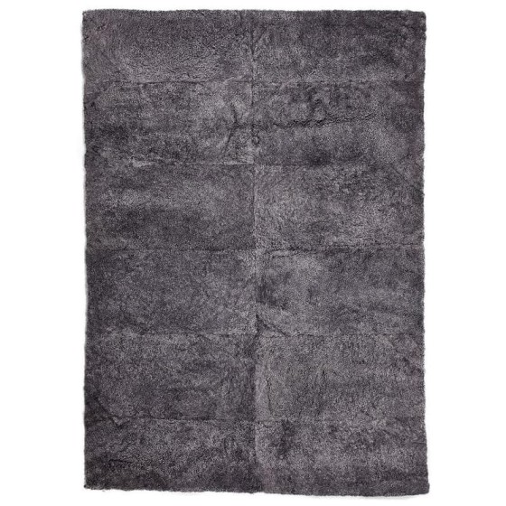 NATURES COLLECTION - NEW ZEALAND DESIGN RUG ANTRACITE - SHORTWOOL CURLY MISURA 200x300cm