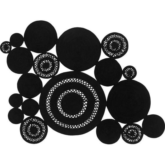 SITAP - ALYSSA PATCHWORK BLACK TAPPETO 160 x 220CM