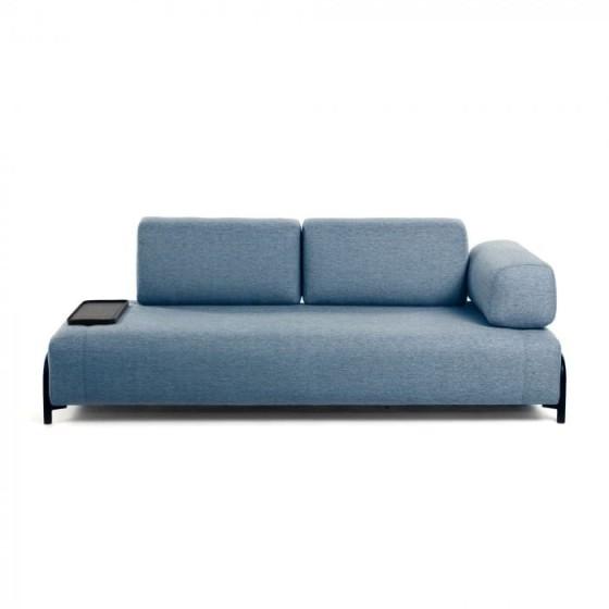LAFORMA - Divano Compo 3 posti blu con vassoi piccolo