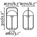 FARO BARCELONA - JELLYFISH LED Lampada portatile binca