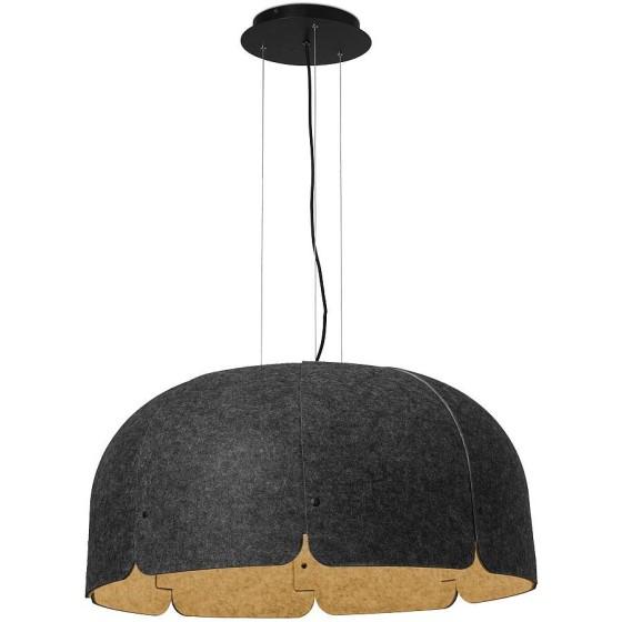 MUTE LED Lampada sospensione marrone e grigio scuro