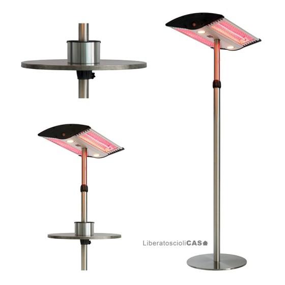 """ELETTRO LIVING - LAMPADA RISCALDANTE A """"LAMPIONE"""" E LUCE LED GEA"""