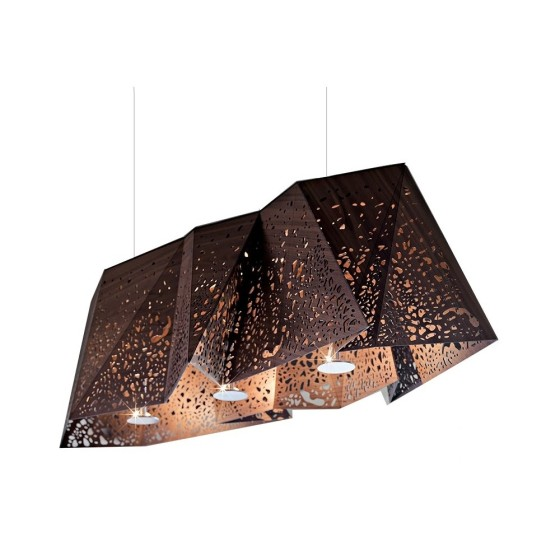 HORM - LAMPADA A SOSPENSIONE Plywood Chandelier DESIGN Steven Holl