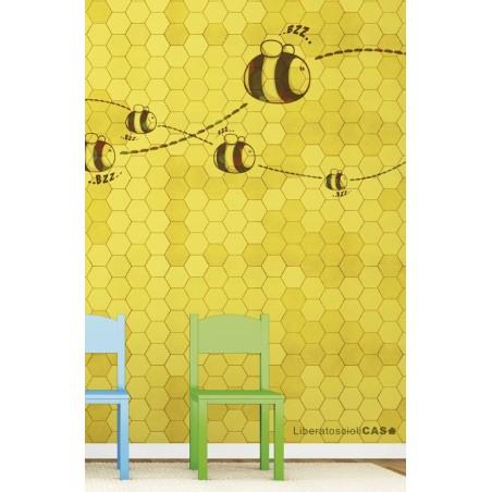 CARTA DA PARATI KIDS Honey to the bee - WALLPEPPER