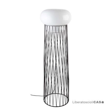 FORESTIER - LAMPADA DA TERRA BLOW FLOOR LAMP DARK GREY