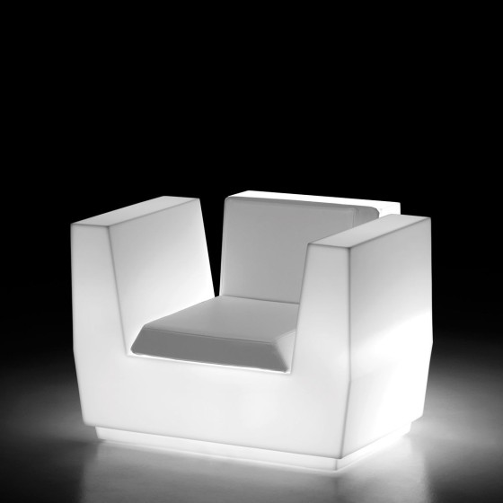PLUST - POLTRONA BIG CUT ARMCHAIR LIGHT + KIT LUCE PER ESTERNO DESIGN MATALI CRASSET