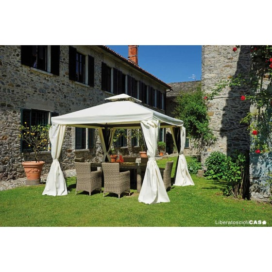 GREENWOOD - GAZEBO 3X3M IN ALLUMINIO CON TENDE