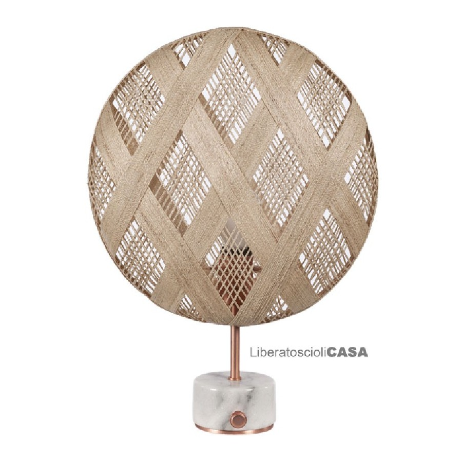 FORESTIER - Lampe Chanpen con paralume bianco diam 36 cm