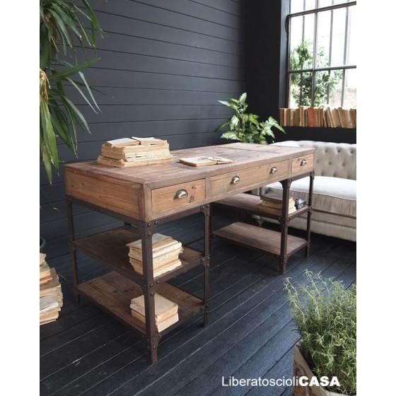 ORCHIDEA - Scrittoio vintage natural