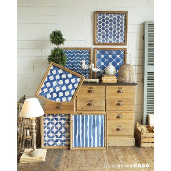 ORCHIDEA - Set 6 stampe geometrical blue