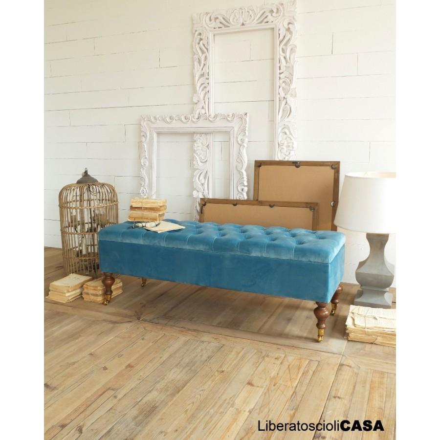 ORCHIDEA - Pouf contenitore luxury blue