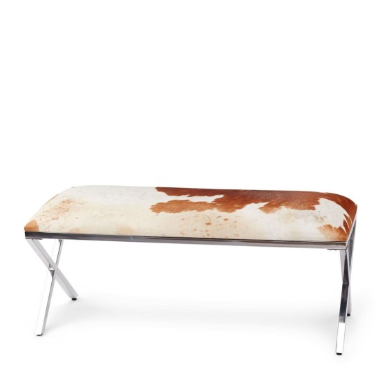 NATURES COLLECTION - BENCH COW HIDE