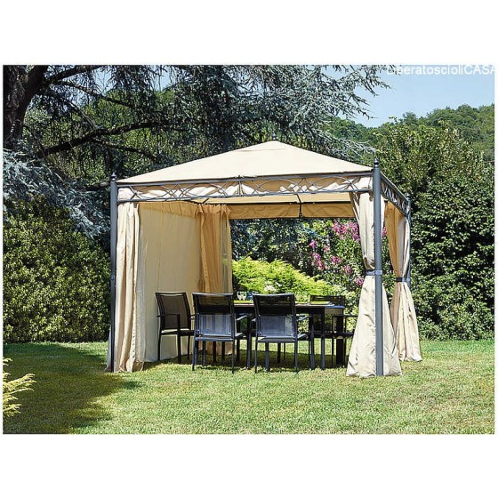 GREENWOOD - Gazebo in ferro quadrato 3×3 m