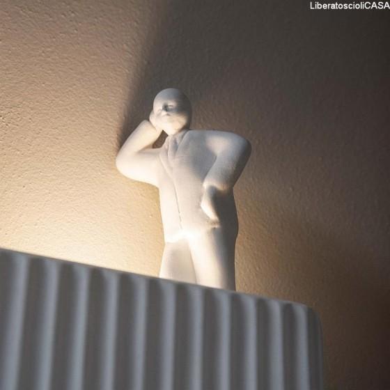 KARMAN - UMARELL AC199 CC INT LAMPADA DA PARETE IN CERAMICA BIANCA