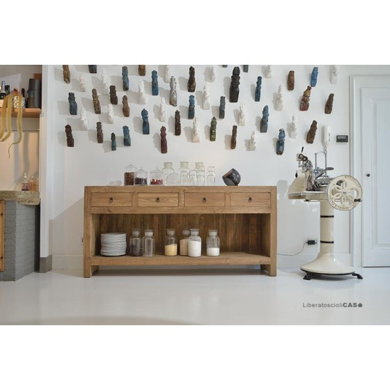 NATURE DESIGN - CREDENZA FAITH IN LEGNO ANTICO MASSELLO