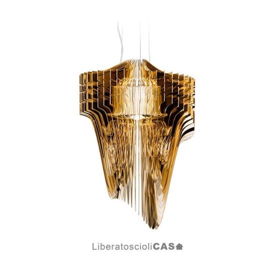 SLAMP - LAMPADA ARIA GOLD by ZAHA HADID