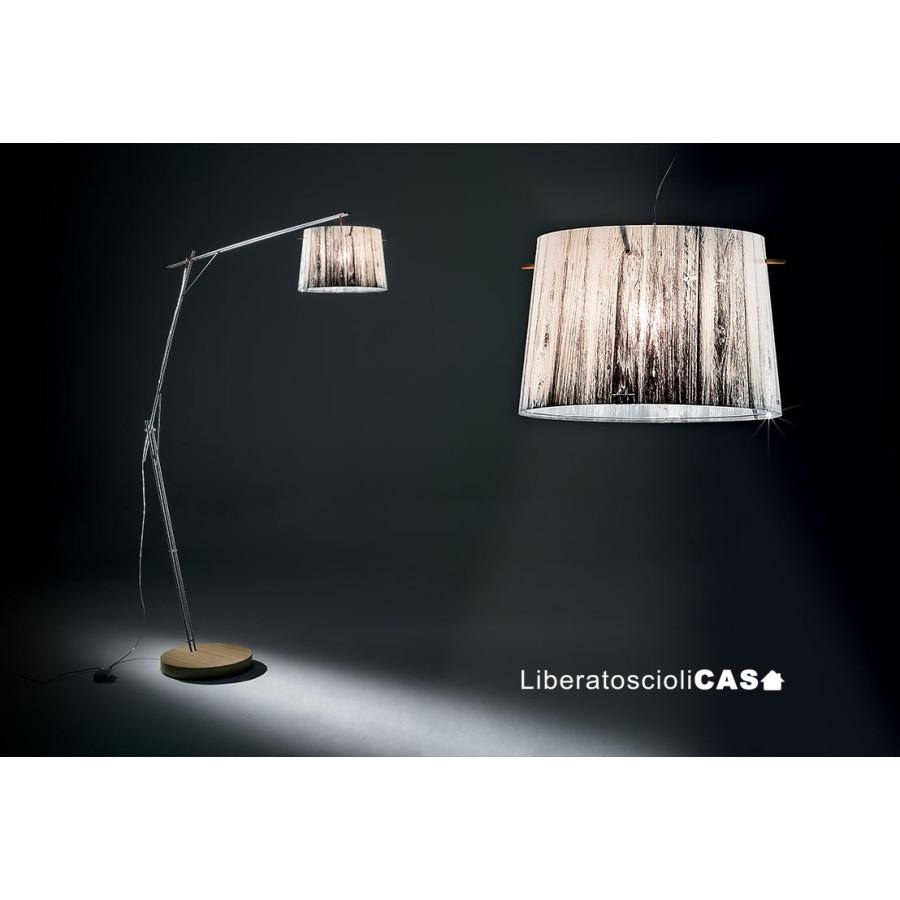 SLAMP - LAMPADA DA TERRA WOODY design by Luca Mazza