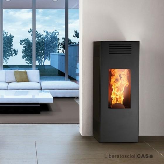 MONTEGRAPPA - STUFA A PELLET NOIR LP 6 - 9 kW ad aria calda ventilata
