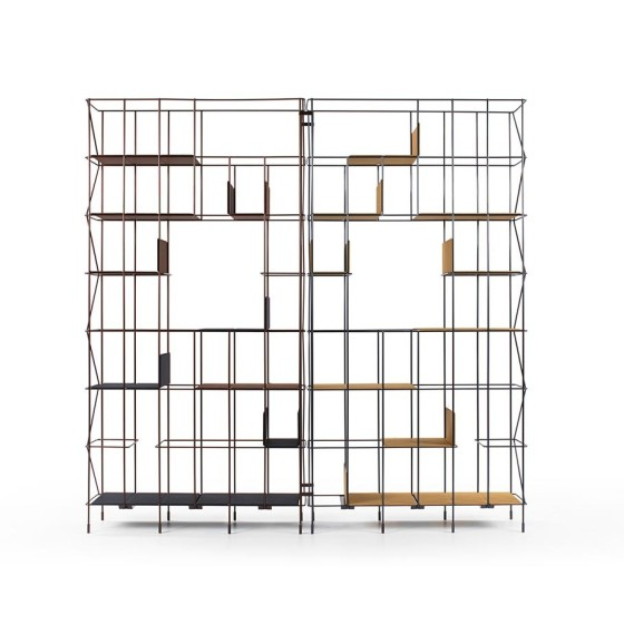 CASAMANIA - LIBRERIA BOOKSHELF NETWORK IN METALLO