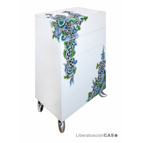 CASSETTIERA 5 CASSETTI CHEST OF DRAWERS L CASABLANCA