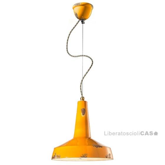 FERROLUCE - LAMPADA A SOSPENSIONE VINTAGE C1417