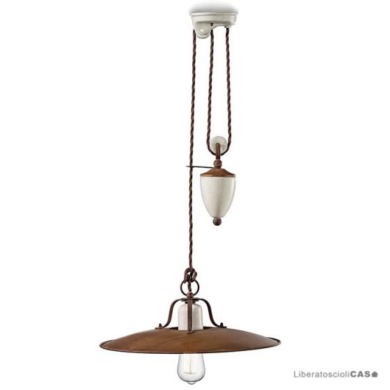 FERROLUCE - LAMPADA A SOSPENSIONE GRUNGE DIAM.40 CM