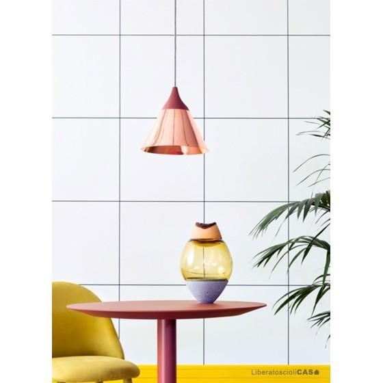 MINIFORMS - SLOPE LAMPADA A SOSPENSIONE GRANDE IN RAME Ø28x26h