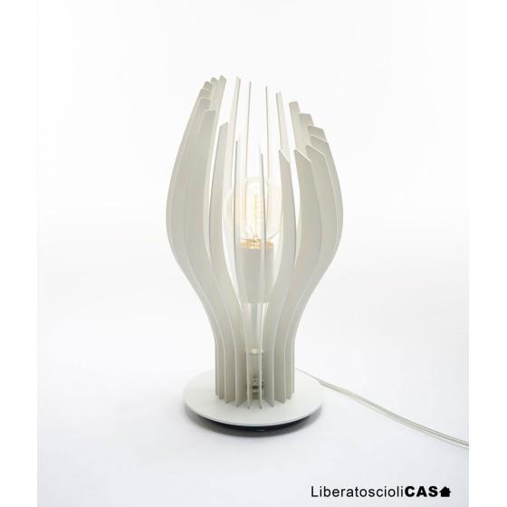 ZAVA - SLICES-S LAMPADA DA TAVOLO IN METALLO BIANCO