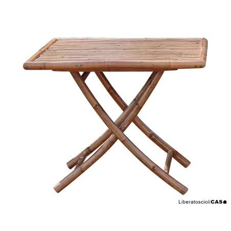 Tavolo 90×90 in bambu'