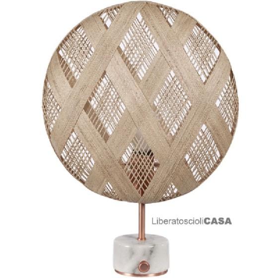 FORESTIER - Lampe Chanpen con paralume naturale diam 36 cm