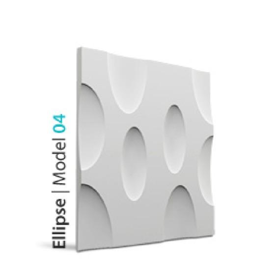 LOFT SYSTEM - MODEL 04 ELLIPSE PANNELLO DECORATIVO IN GESSO