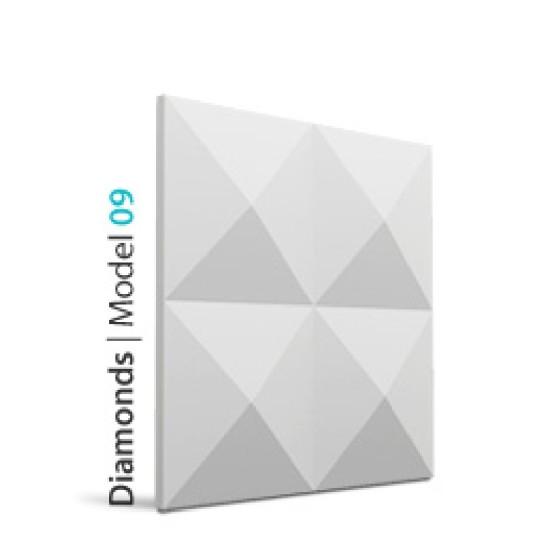 LOFT SYSTEM - MODEL 09 DIAMONDS PANNELLO DECORATIVO IN GESSO