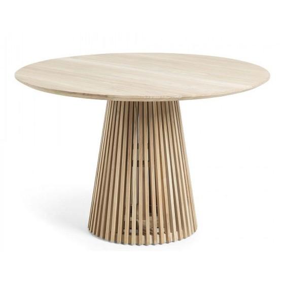 KAVE HOME - Tavolo Jeanette in legno massello di teak naturale