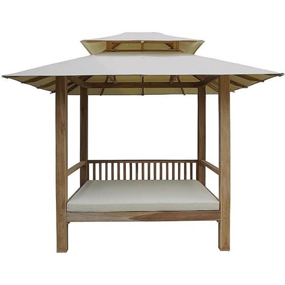 IL GIARDINO DI LEGNO - Cabana con tetto in tessuto Classica con cuscino