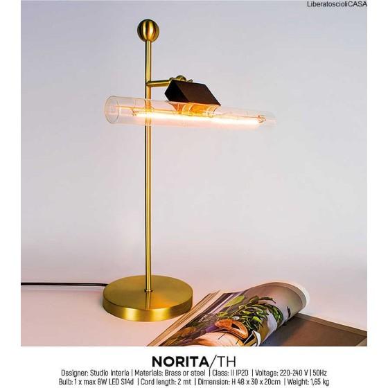 INTERIA - NORITA/TH LAMPADA DA TAVOLO OTTONE SATINATO