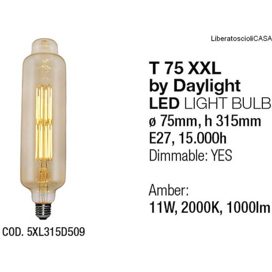 INTERIA - LAMPADINA T75XXL LED LIGHT BULB