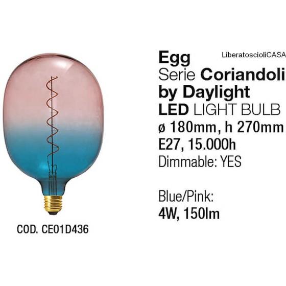 INTERIA - LAMPADINA EGG SERIE CORIANDOLI LED LIGHT BULB BY DAYLIGHT