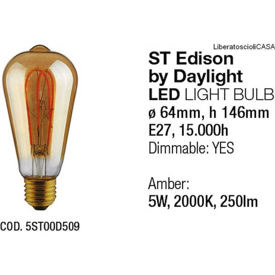 INTERIA - LAMPADINA ST EDISON LED LIGHT BULB BY DAYLIGHT