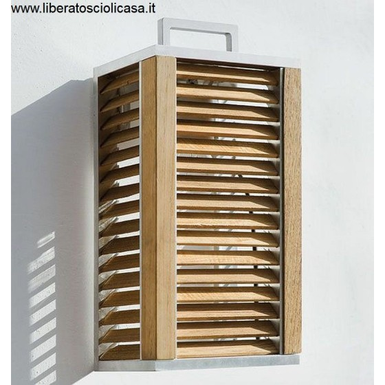 ETHIMO - GINGER APPLIQUE LED DI ALLUMINIO E TEAK