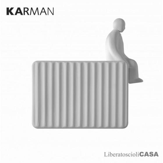 KARMAN - UMARELL AC199 AC INT LAMPADA DA PARETE IN CERAMICA BIANCA