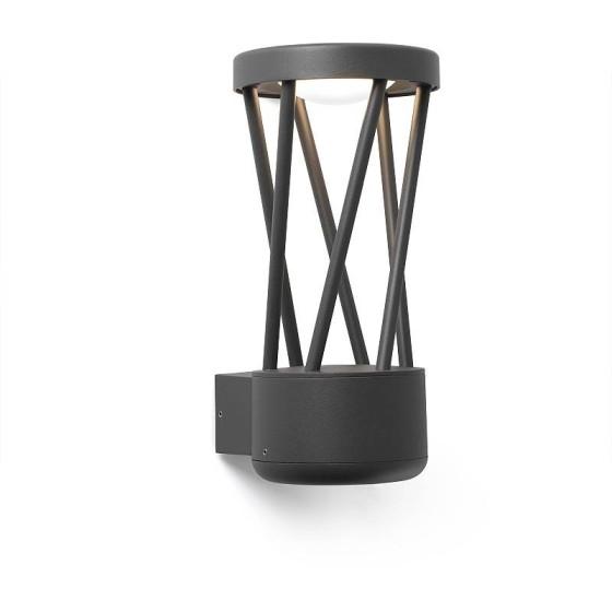 FARO BARCELONA - TWIST Lampada da parete grigio oscuro