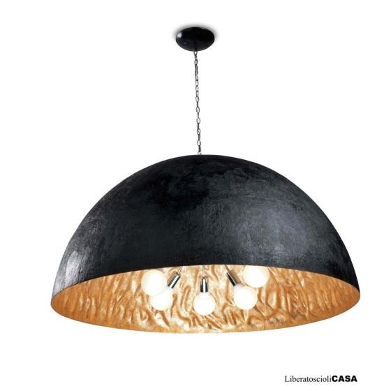 FARO BARCELONA - MAGMA-G Lampada sospensione nero e oro