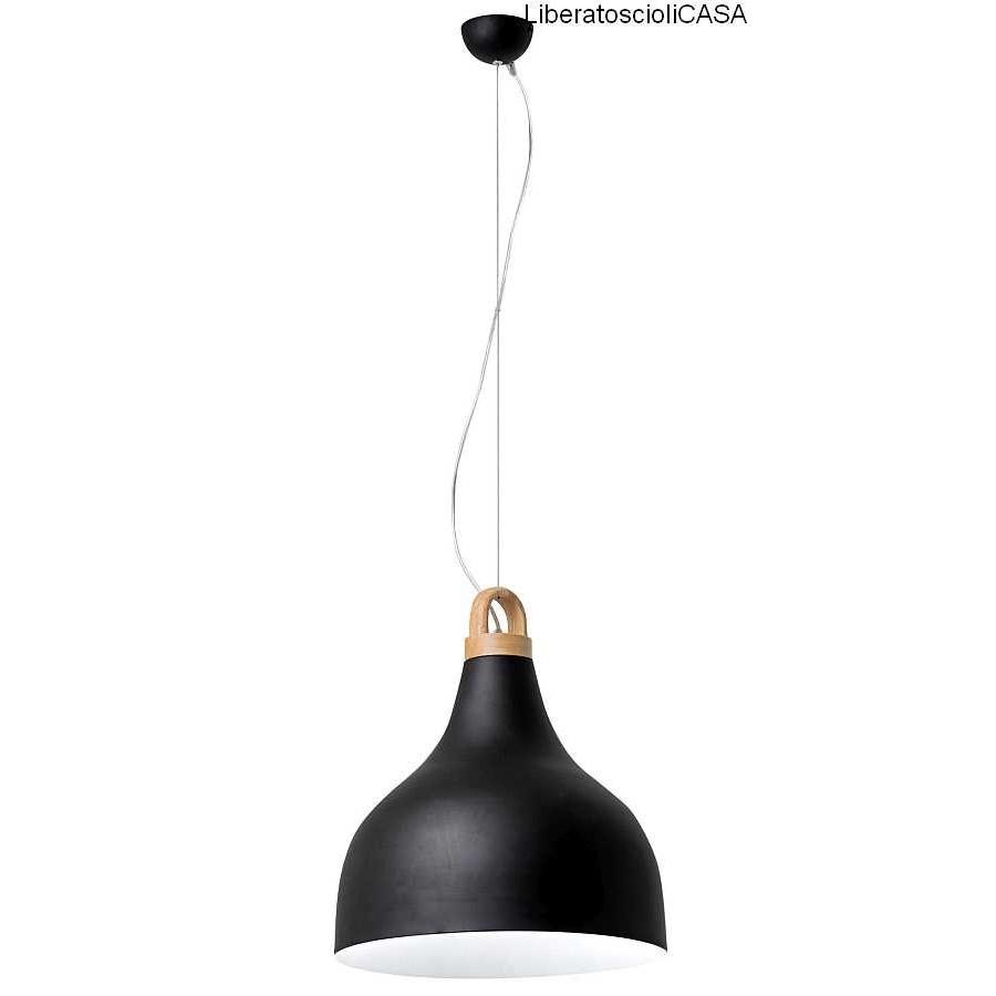 BELL LAMPADA A SOSPENSIONE E27 NERO BIG 1X40W
