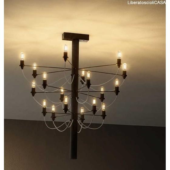 VESOI - SCAR 80 LAMPADA A SOFFITTO IN OTTONE GREZZO