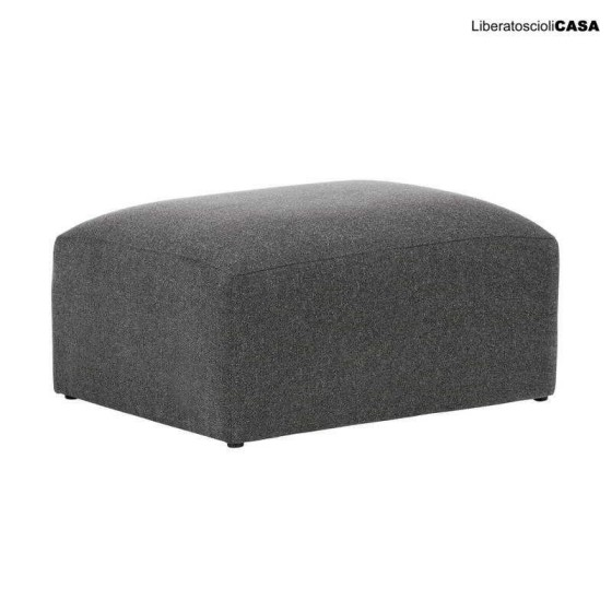 LAFORMA - Pouf Blok 90 x 70 cm grigio