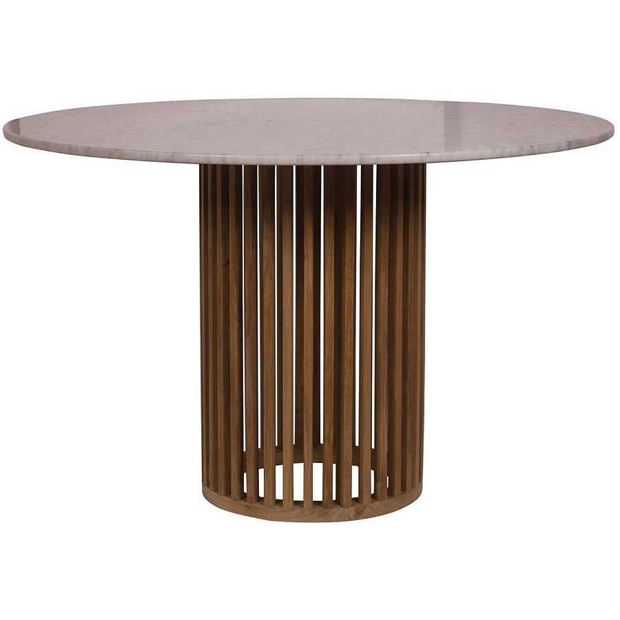 IL GIARDINO DI LEGNO - Tavolo rotondo con piano in marmo Code