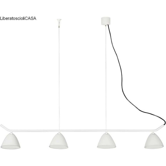 FARO BARCELONA - FLASH LED Lampada sospensione bianca 4L